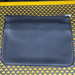 Bally Mens Matrio Navy Leather Clutch Bag